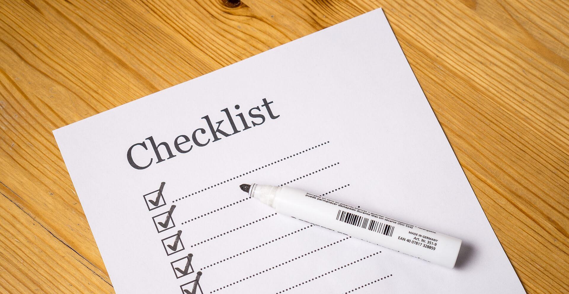 checklist campingwagen