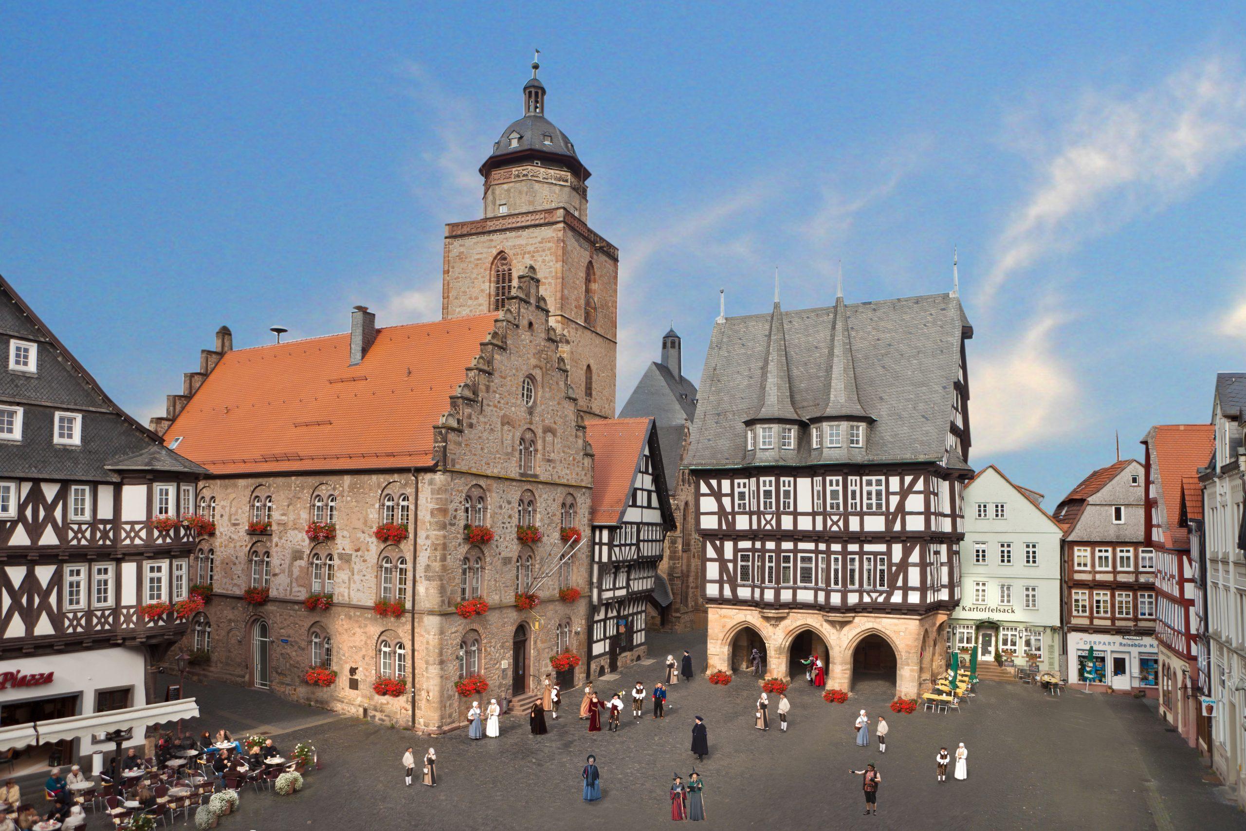 Alsfeld in Hessen: Rathaus am Marktplatz